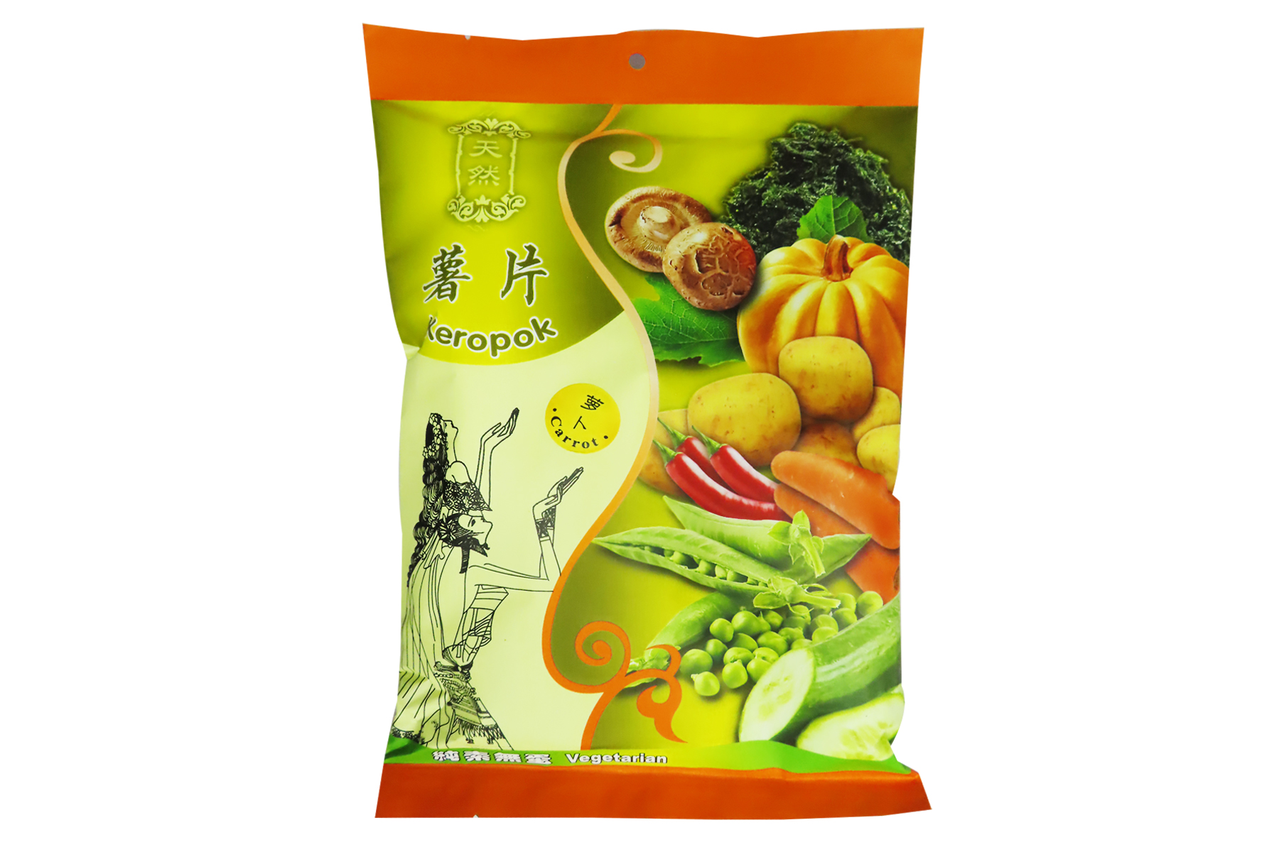 Image Kun Yi Carrot Cracker 昆益 - 罗卜薯片 40grams