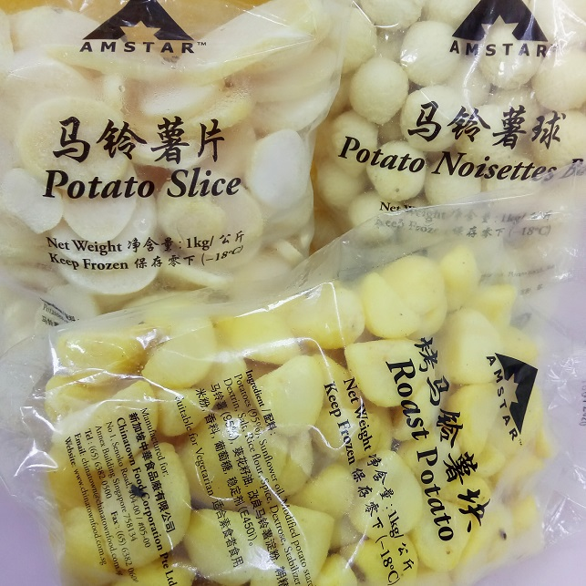 Image Roast Potato Amstar - 烤马铃薯块 1000grams