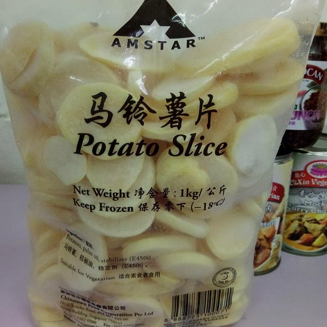Image Potato Slice Amstar - 马铃薯片 1000grams