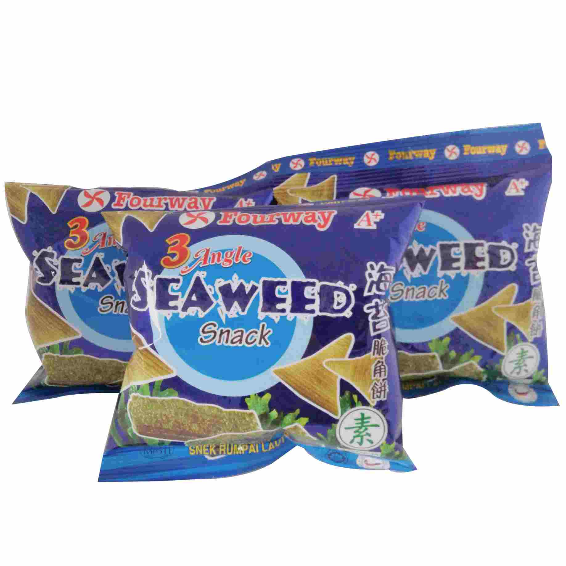 Image SEAWEED SNACK 海苔脆角饼 (3packtes)75grams