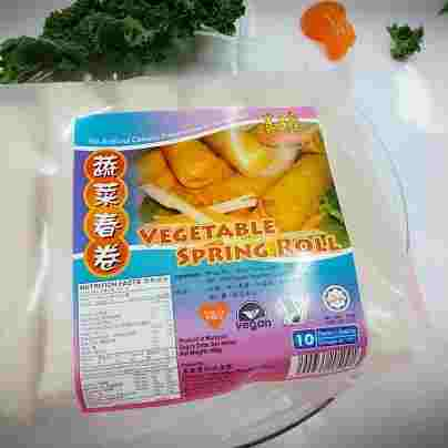 Image Vegan Vegetable Spring Roll 善缘 - 蔬菜大春卷(10 pieces) 600grams