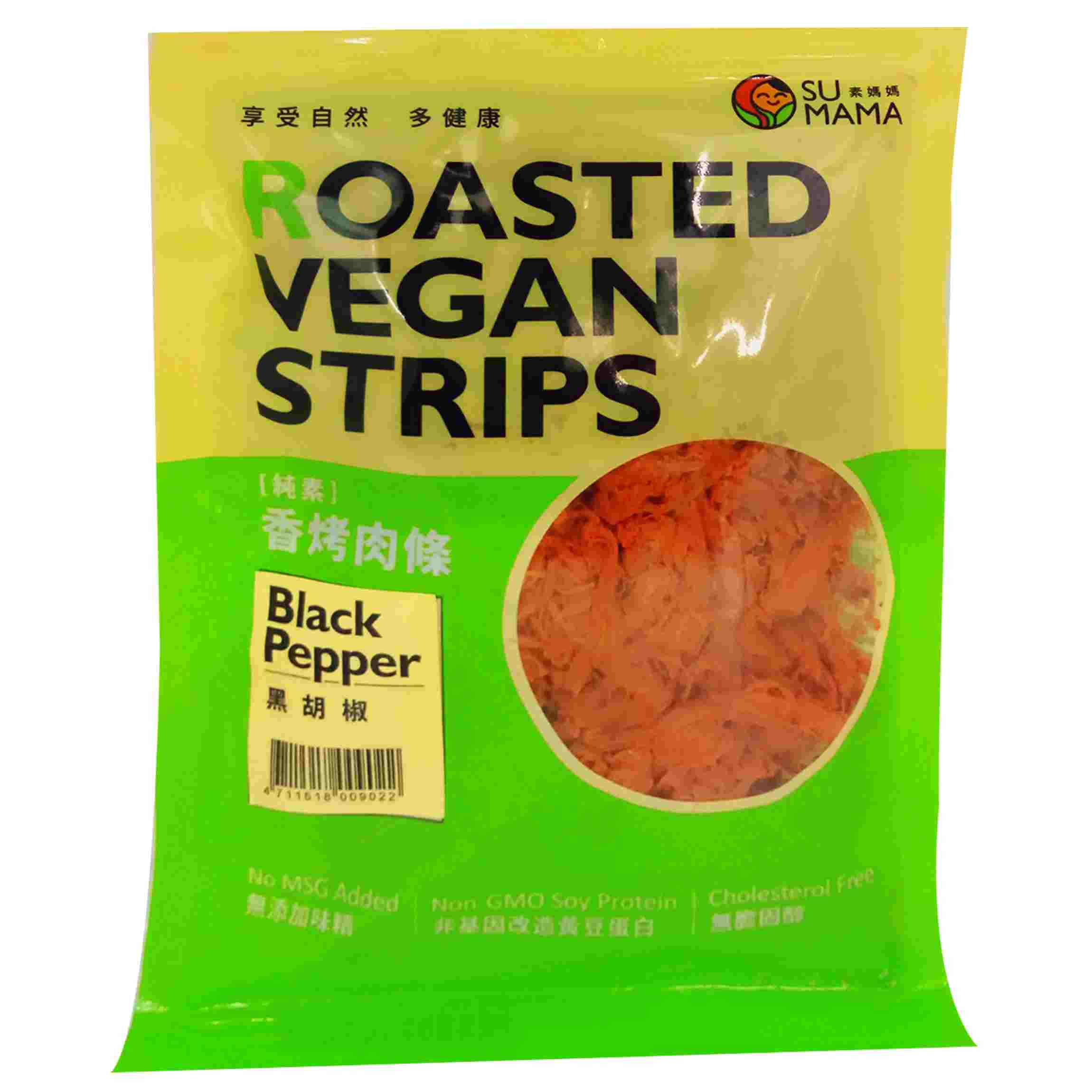 Image Roasted Vegan Strips 素妈妈 - 香烤肉條 (黑胡椒) 100grams