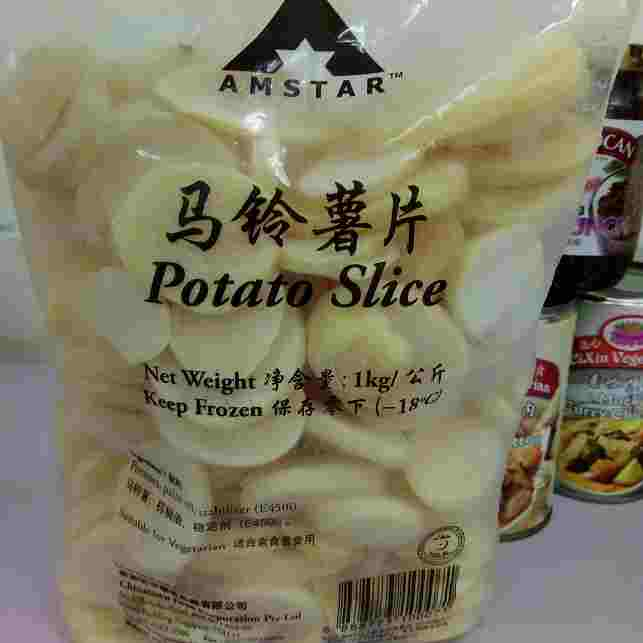 Image Potato Slice Amstar - 马铃薯片 1000grams