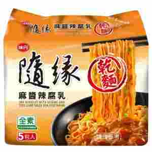Image S/Tofu Curd Noodle 味丹 - 随缘麻酱辣腐乳干面 (5 packet) 430grams