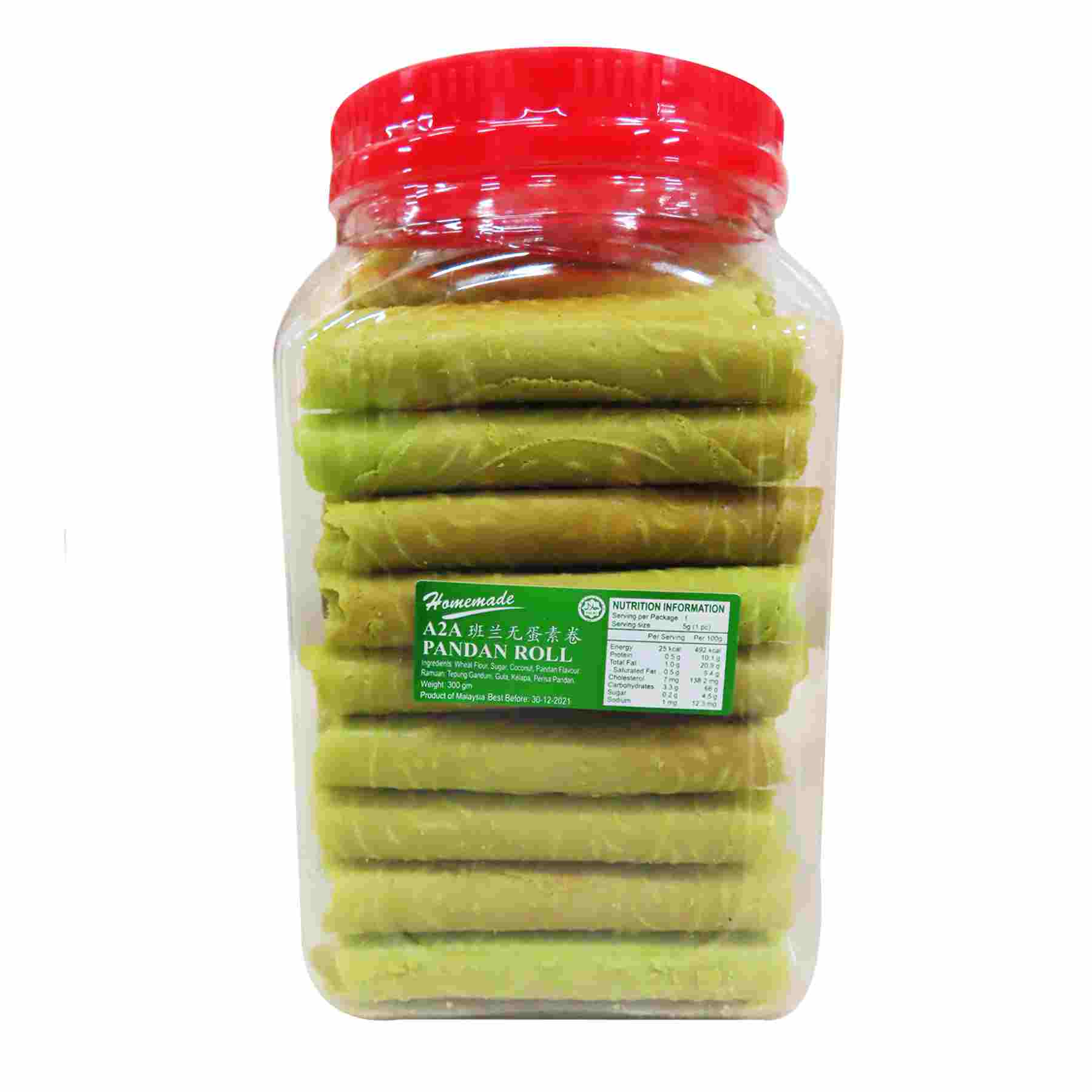 Image Pandan Nyonya Roll eggless love letter A2A 善缘 - 班兰卷 300grams