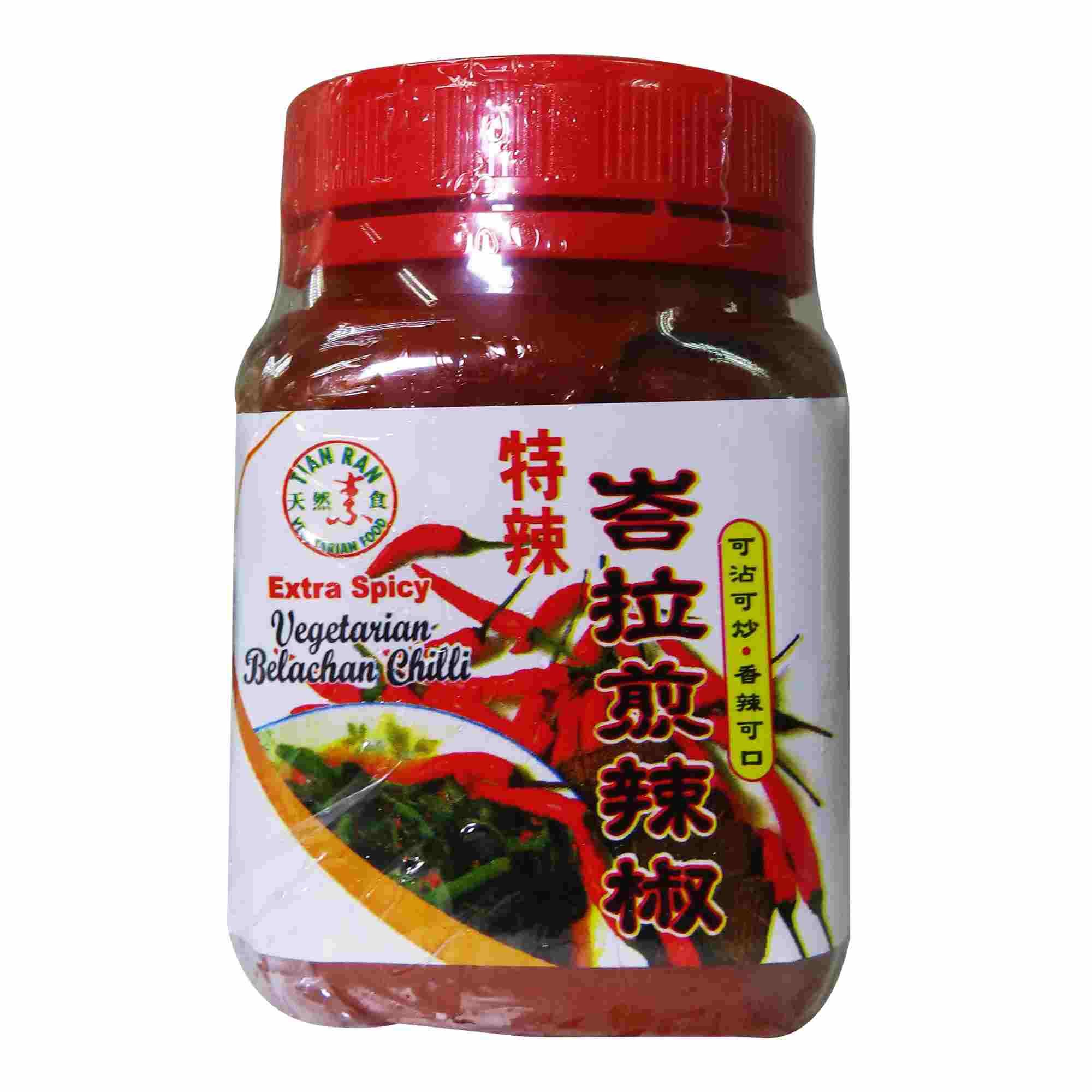 Image Extra Spicy Vegetarian Balachan Chili 天然-特辣峇拉煎辣椒 180grams