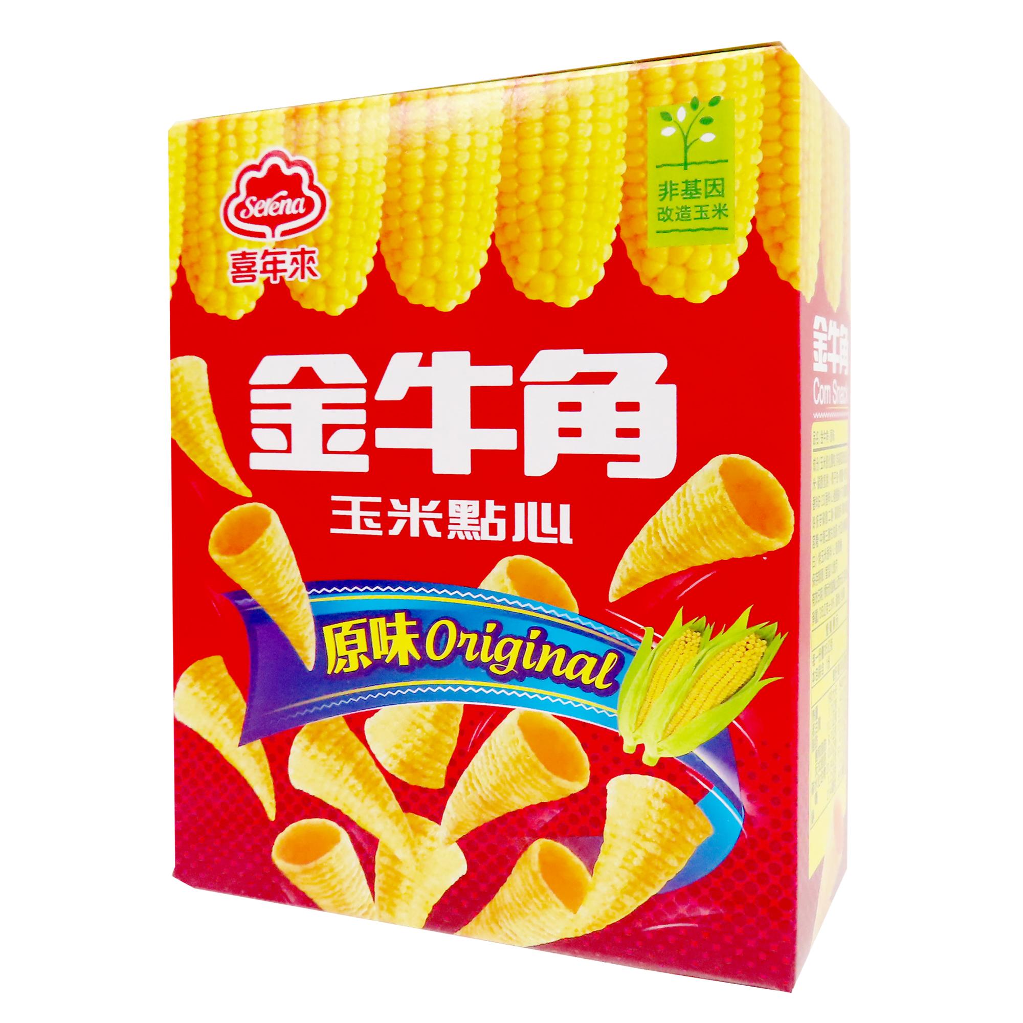 Image Vegetarian American Corn Snack 喜年来-金牛角 35grams