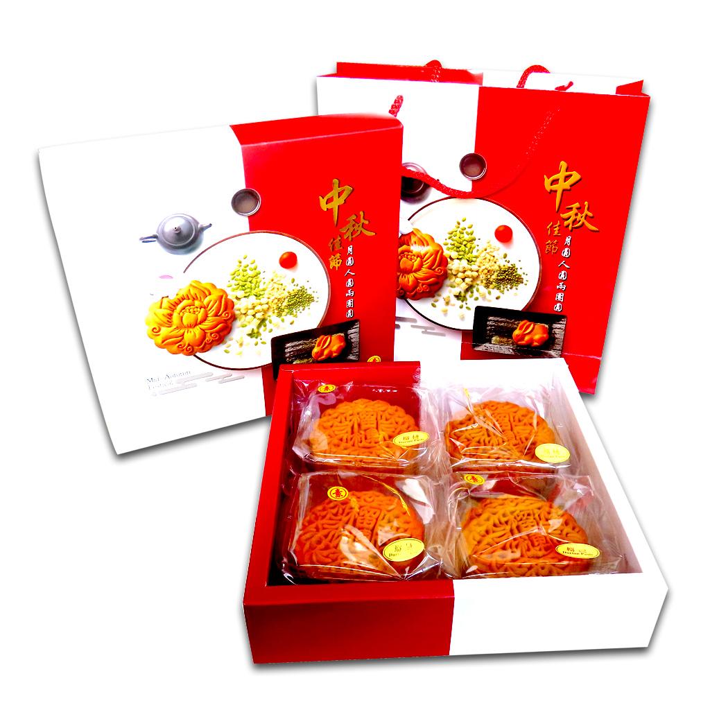 Image Durian Paste Mooncake 特级莲蓉榴莲月饼(纯素) 720grams