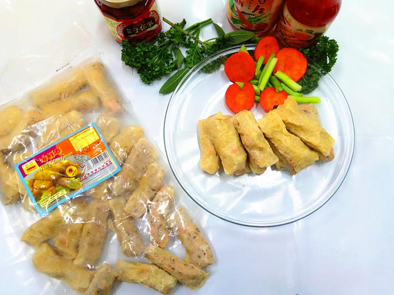 Image Vegetarian Seafood Roll hai Xian Juan 善缘-海鲜卷 900grams