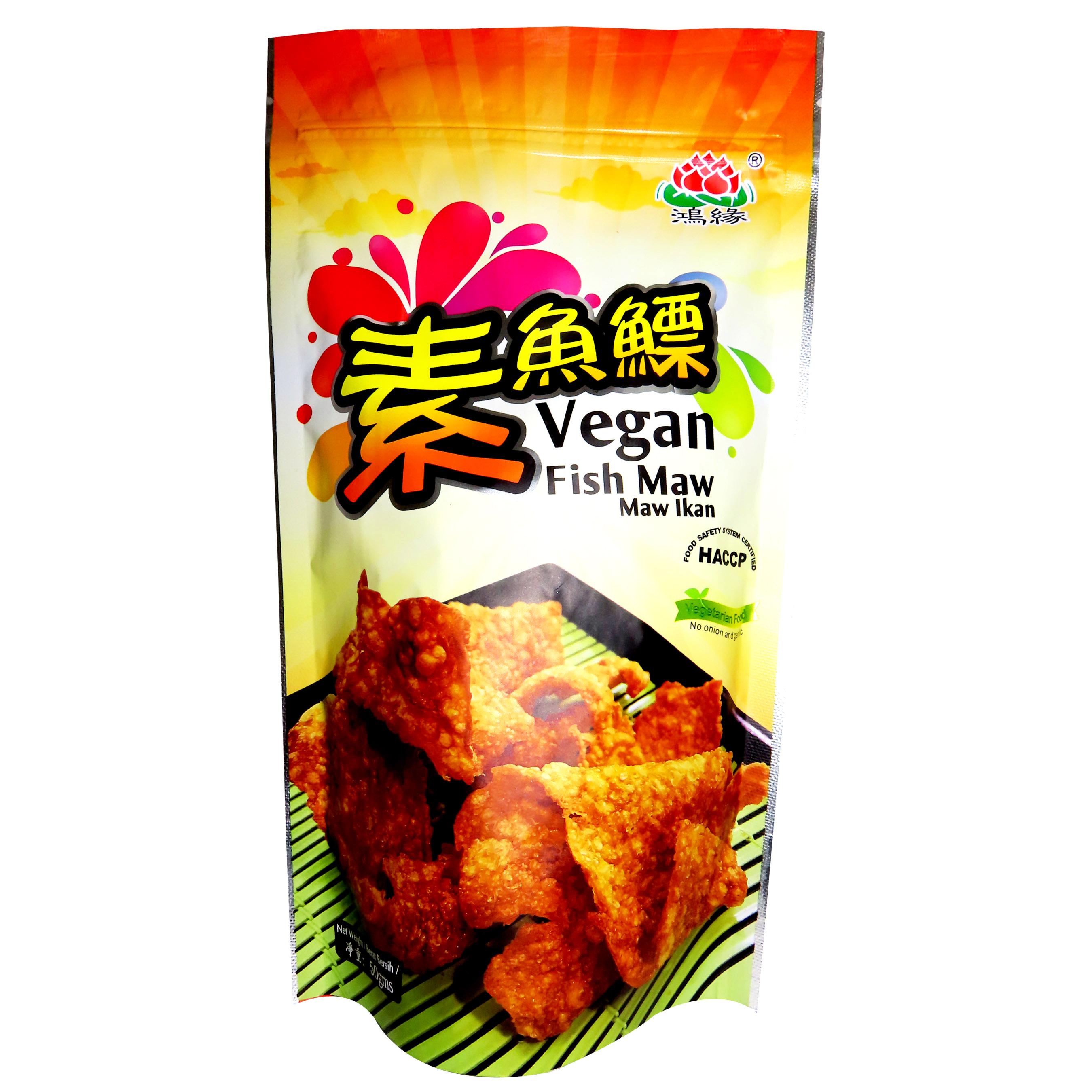 Image Vegan Fish Maw 鸿缘 - 素鱼鳔 50grams