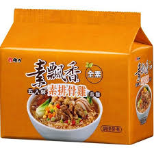 Image Vegetarian Ribs Chicken Instant Noodles 素飘香-素排骨鸡汤面 390g x 6pkt